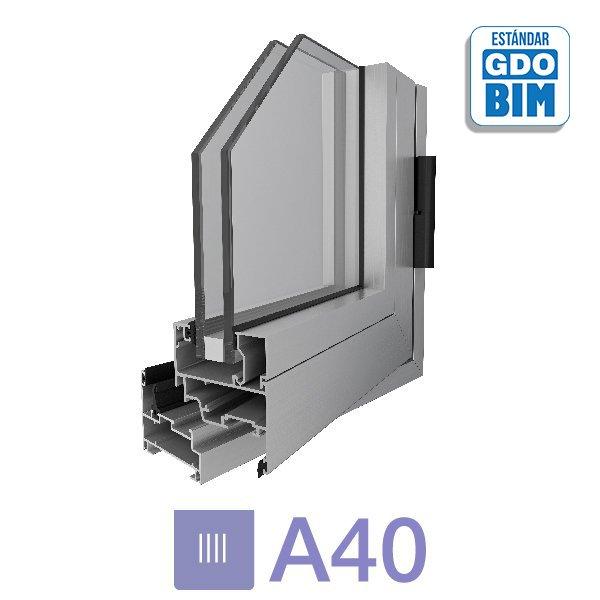Sistema A40 Ventana de abrir de 1 hoja - aluar