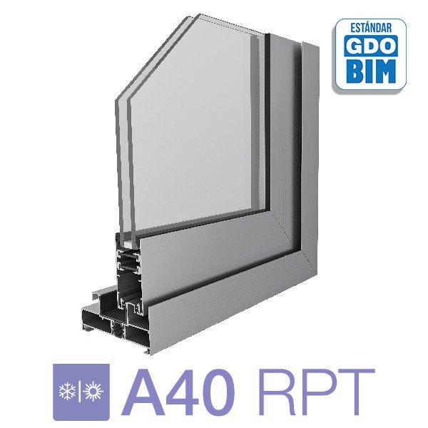 Puerta A40 RPT Corrediza de dos hojas- aluar