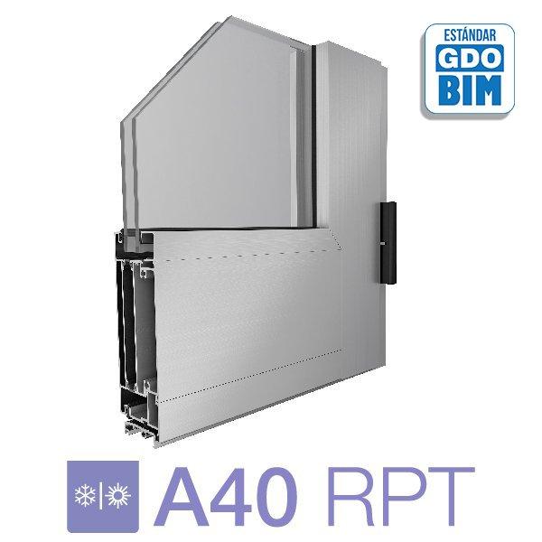 Puerta de rebatir 1 hoja A40 RPT - aluar