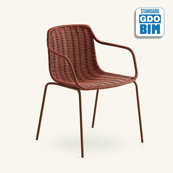 Lapala - hand-woven dining armchair