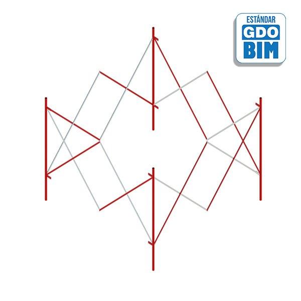 Acero extensible cuadrada