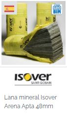 Imagen Objeto BIM Isover Lana mineral Isover Arena Apta 48mm