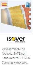 Imagen Objeto BIM Isover Revestimiento de fachada SATE con Lana mineral ISOVER Clima 34 y mortero weber