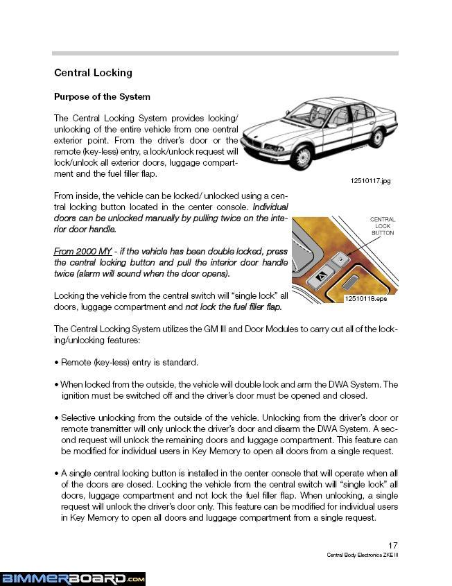How To Open Car Trunk Without Key : trunk, without, Doors, Locked, BimmerFest, Forum