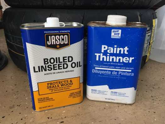Boiled Linseed Oil And Paint Thinner Plastic Restoration