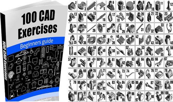 Download 100 CAD exercises online