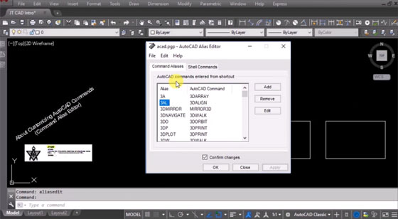 How to create command aliases for full length command in AutoCAD 2000