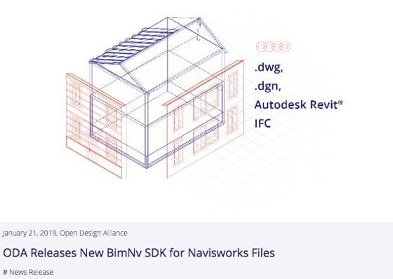 New 'BimNv' SDK for Navisworks Files launched by ODA (Open Design Alliance)
