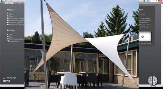 How to use Revit for creating model of a Parametric Tensile Canopy