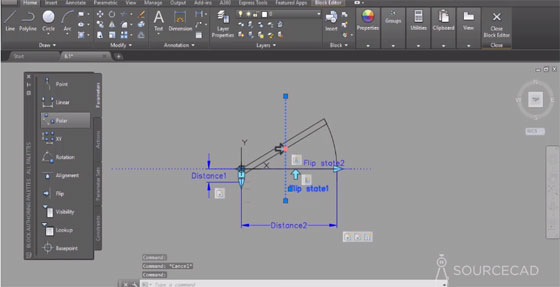 Some useful cad tips to generate a door dynamic block in AutoCAD