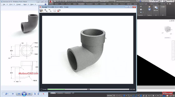 How to produce a 90 degree elbow pipe with AutoCAD 2017