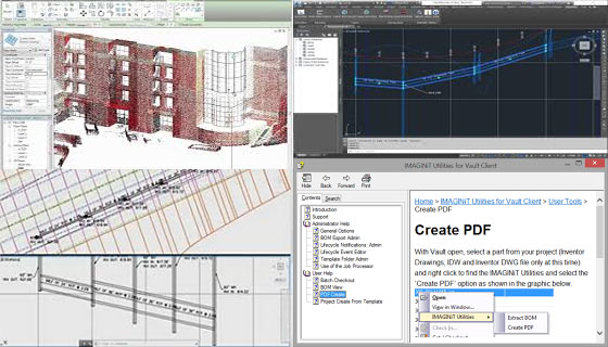 IMAGINiT introduced Utilities for Revit, Civil 3D, Vault Client