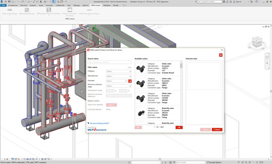 MEPcontent Product Line Placer for Valves is the newest stand-alone app for Revit