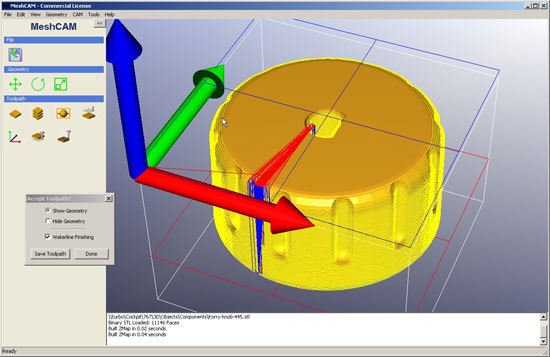 Create 3d parts of your machine instantly with MeshCAM