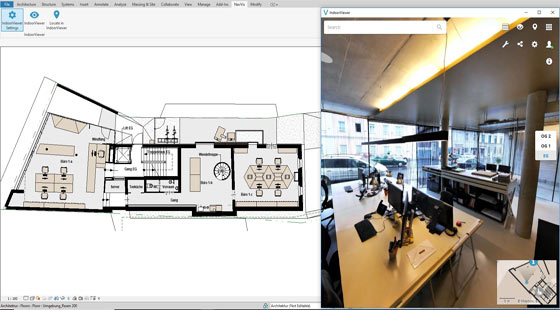 Autodesk Revit Add-in allows the users to link their BIM to 360 Degree Immersive Imagery