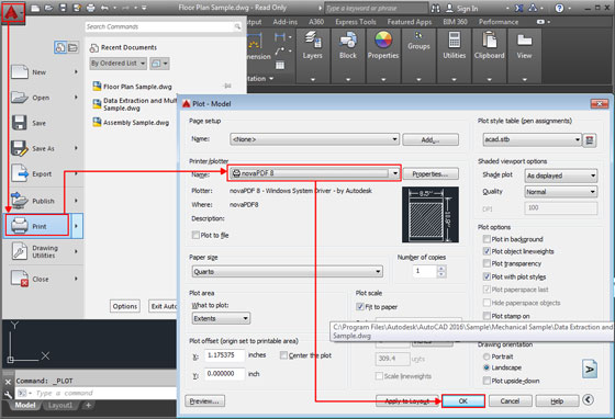How to transform any PDF or image files in AutoCAD