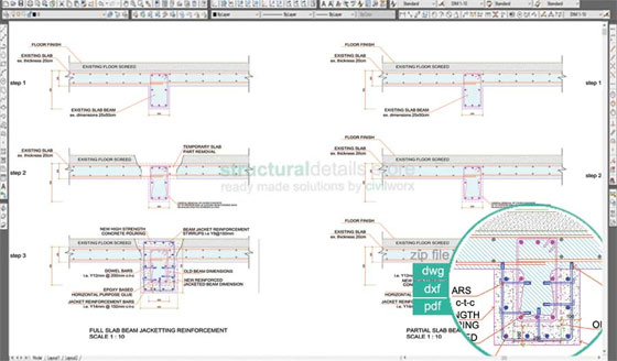 Download cad drawings of Reinforced Concrete Retrofit at discounted prices