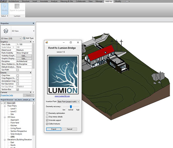 Bring Your Revit Model Into Lumion With Revit Exporters
