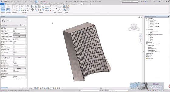 Demonstration of new freeform rebar tool in Revit 2018.1
