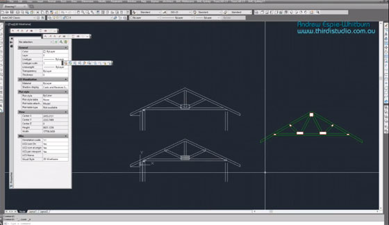 How to use TrussCAD, a autocad based program, to draw roof truss section detail