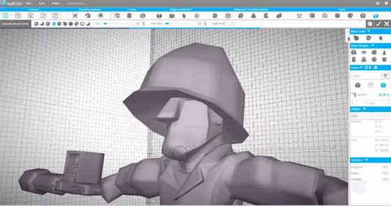 SelfCAD – A powerful 3D CAD tool for 3d modeling, sculpting and 3d printing