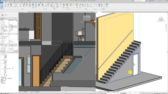 Some useful tips to attach a wall to a stair in Revit