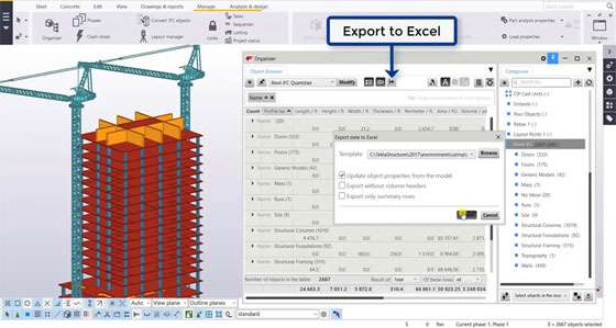 How to perform quantity takeoff in Tekla with a Revit IFC