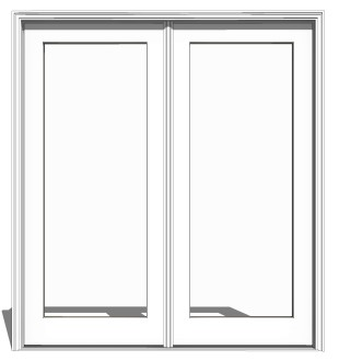 clad wood outswing 2 panel french