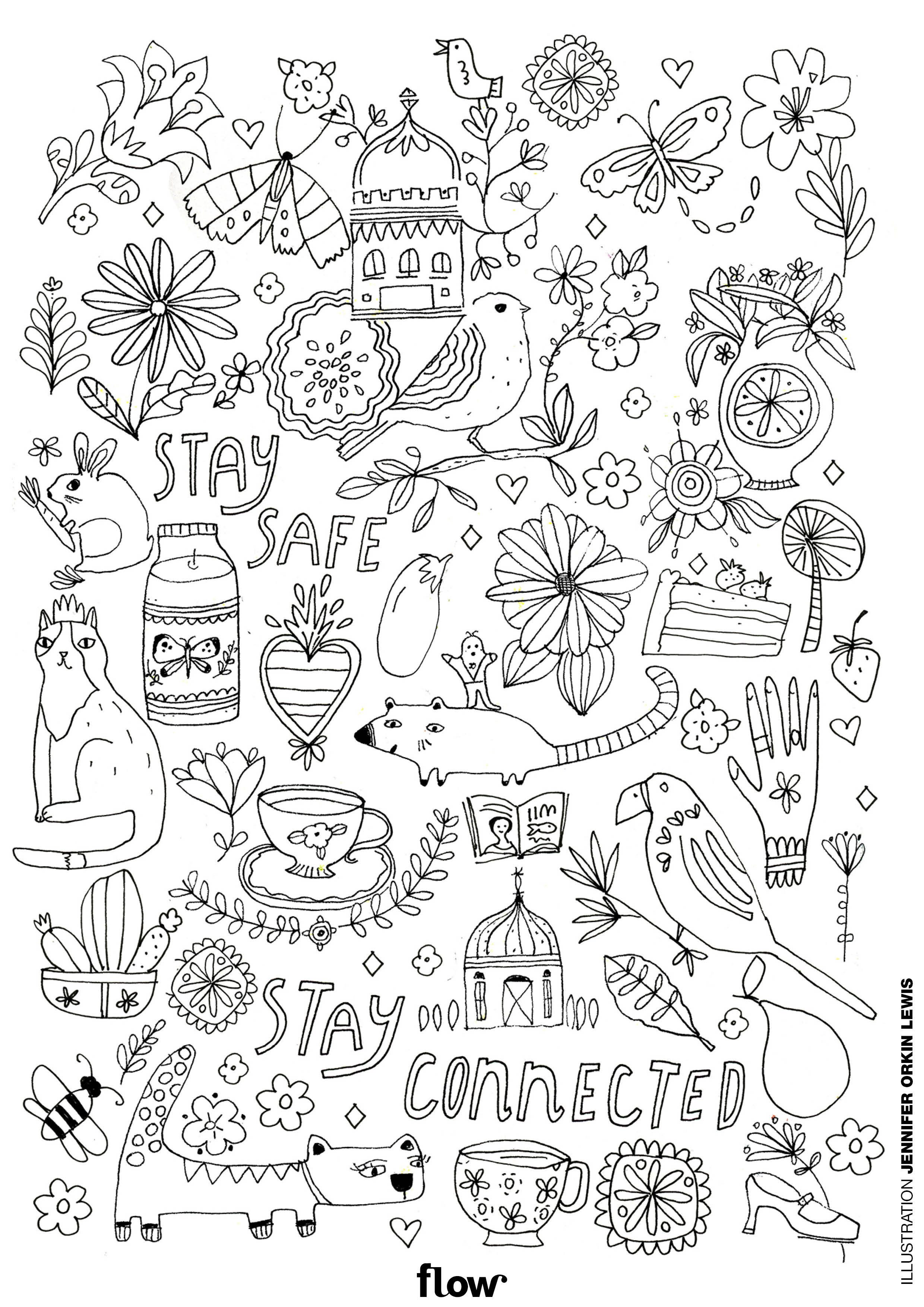 Comforting Coloring Page