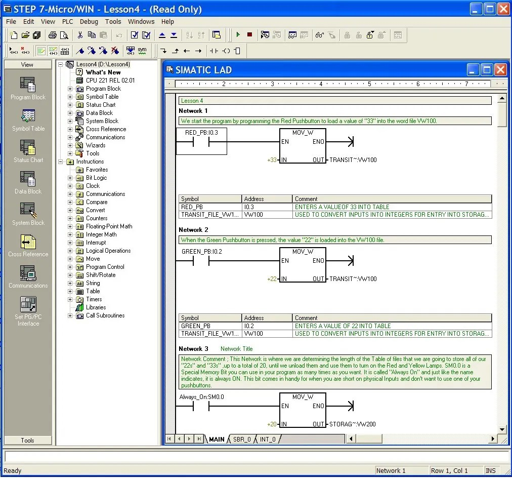 hight resolution of siemens simatic plc step7 programing example
