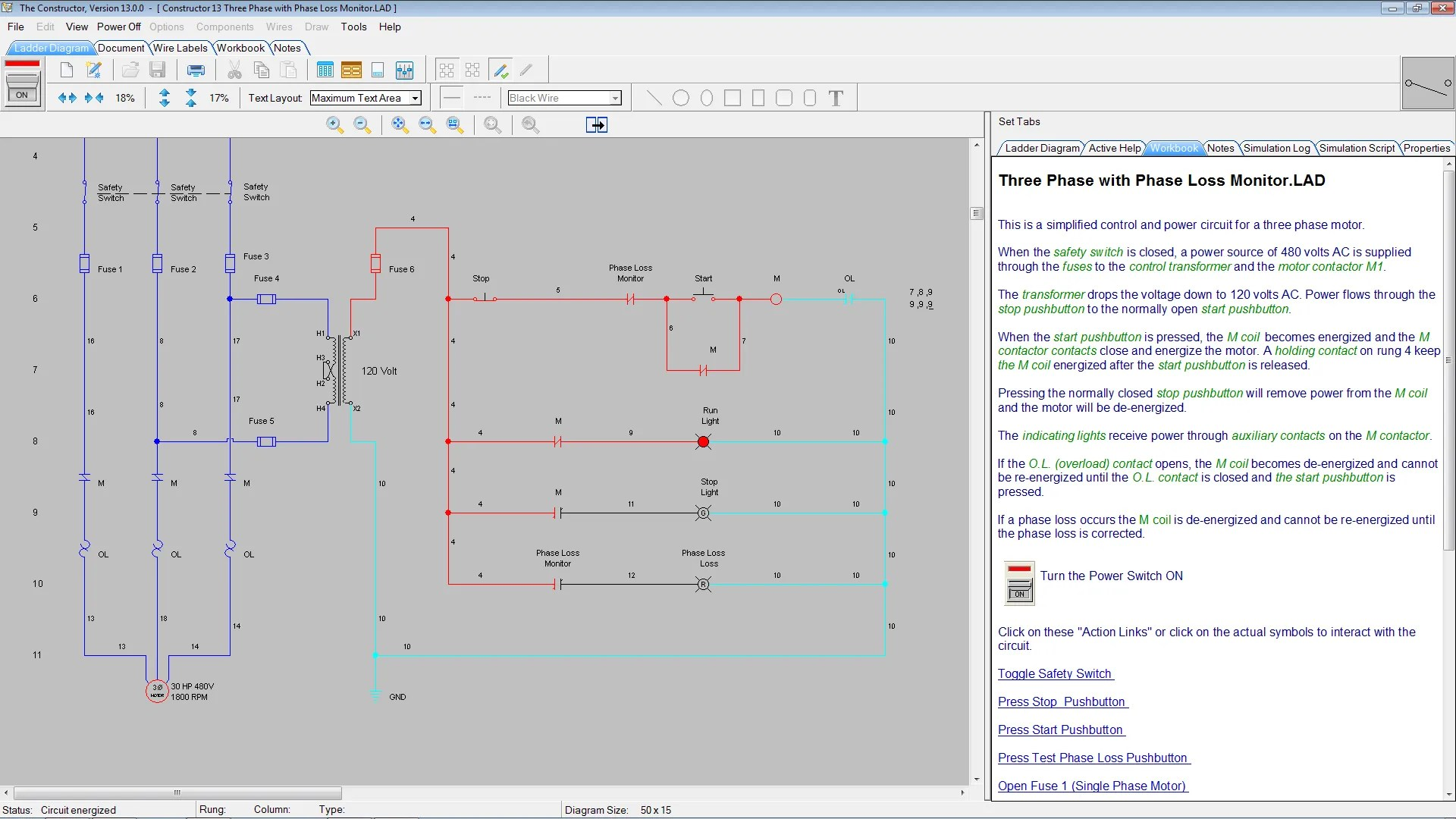 hight resolution of electrical circuit simulator