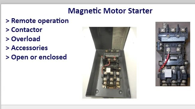 wiring diagram of magnetic contactor fasco electric motor starter online electrical course