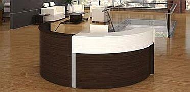 Semi Circle Laminate Reception Desk  Bina Office