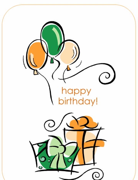 Foldable Birthday Card Template Word : foldable, birthday, template, Balloons, Birthday