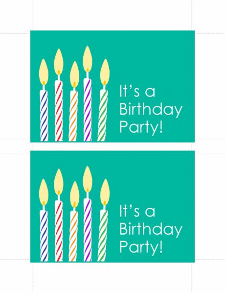 birthday invitation postcards 2 per page