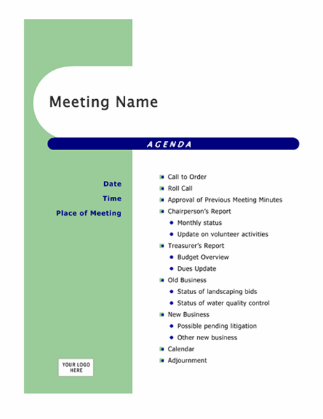 How to turn a meeting agenda template into meeting minutes. Agendas Office Com