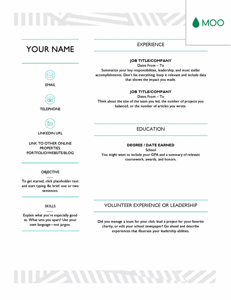 Standing out from a crowd of job applicants is easy with our creative resume templates. Creative Resume Designed By Moo
