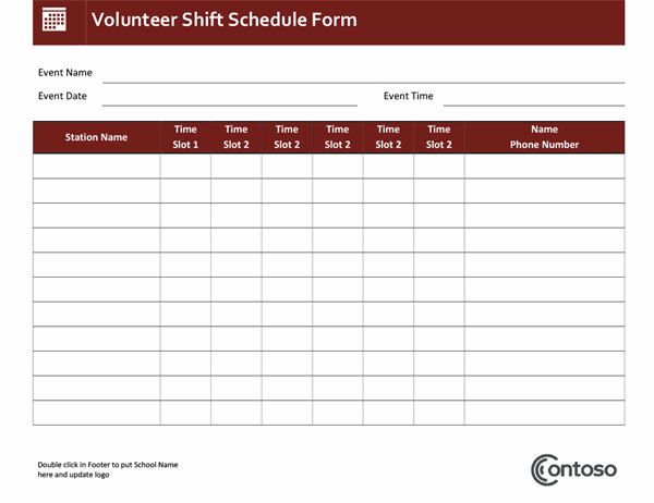 This work schedule template includes the names of the employee, a weekly (or monthly) summary each employee's schedule, and the roles they assume each day. Schedules Office Com