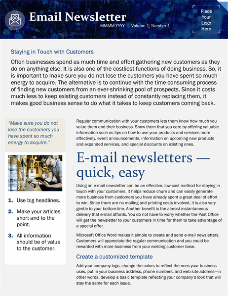 They are handy in internal communication(s). Small Business Email Marketing Template