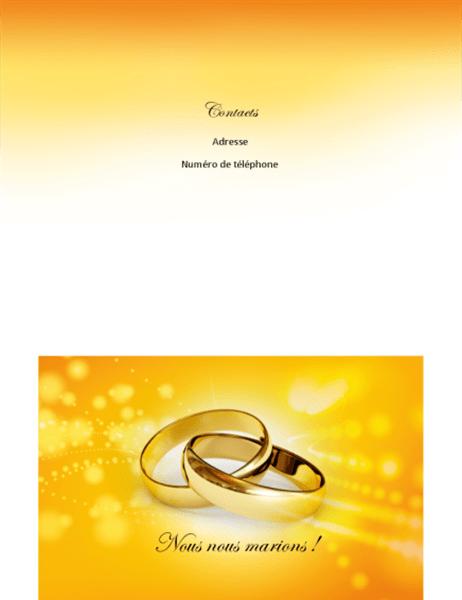 Comment Faire Une Carte D'invitation Sur Word : comment, faire, carte, d'invitation, Invitation, Mariage