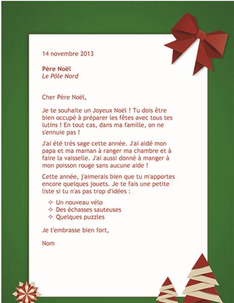 Liste Pour Le Pere Noel : liste, Lettre, Père, Noël