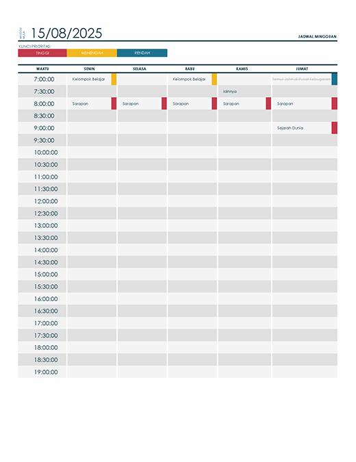 Membuat Jadwal Kerja Shift Dengan Excel : membuat, jadwal, kerja, shift, dengan, excel, Jadwal, Office.com