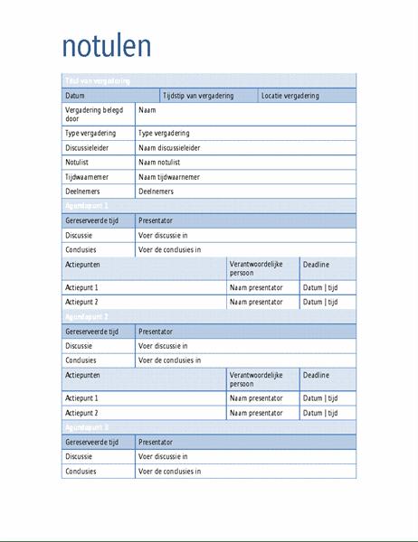 Template Notulen : template, notulen, Notulen, Office.com