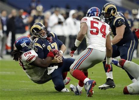 Britain Giants Rams Football