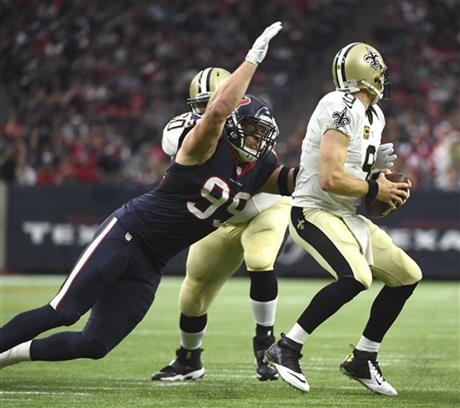 J.J. Watt, Drew Brees