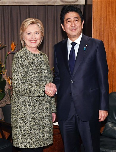 Abe, Clinton affirm importance of U.S.-Japan alliance