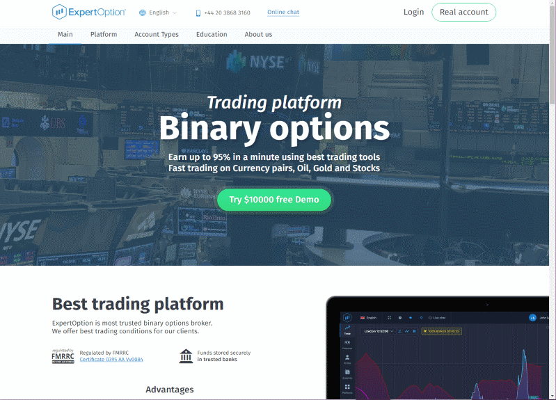 ExpertOption Review - Binary Options Trading Reviews