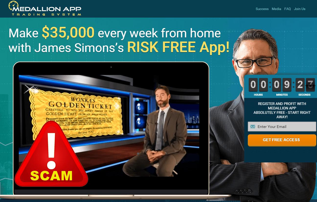 medallion app scam