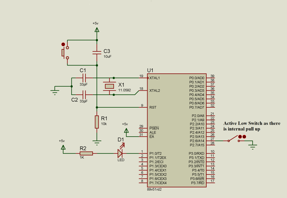 medium resolution of circuit diagram switch with 8051 microcontroller