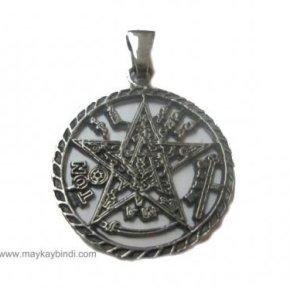 Colgante tetragramaton calado plata
